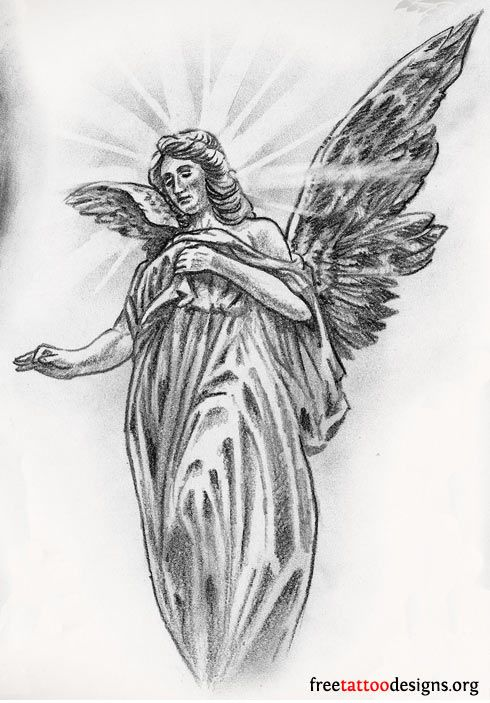 angle cloud design tattoo | Angel Tattoos | Angel Wings, Guardian Angel and St Michael Designs