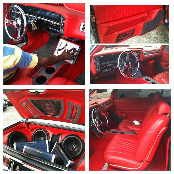 all the way custom red interior car stereo install custom trunk car audio custom installs. Black Bedroom Furniture Sets. Home Design Ideas