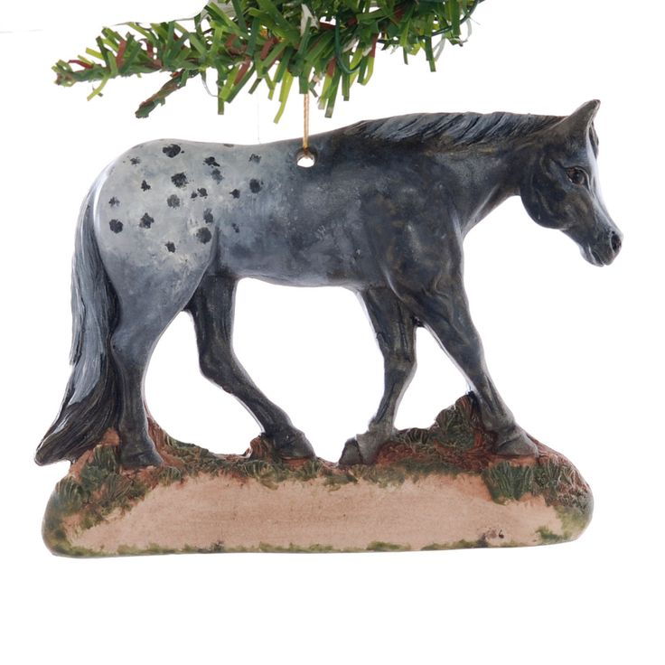 Appaloosa horse Christmas ornament - personalized with your name, phrase or year - handmade in the USA from durable resin (182) by Christmaskeeper on Etsy
