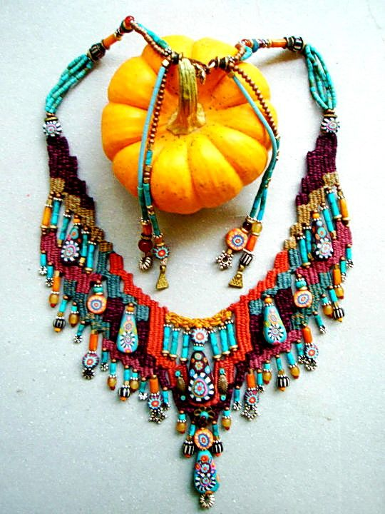 ~ Weaving Jewelry with Polymer bead ~