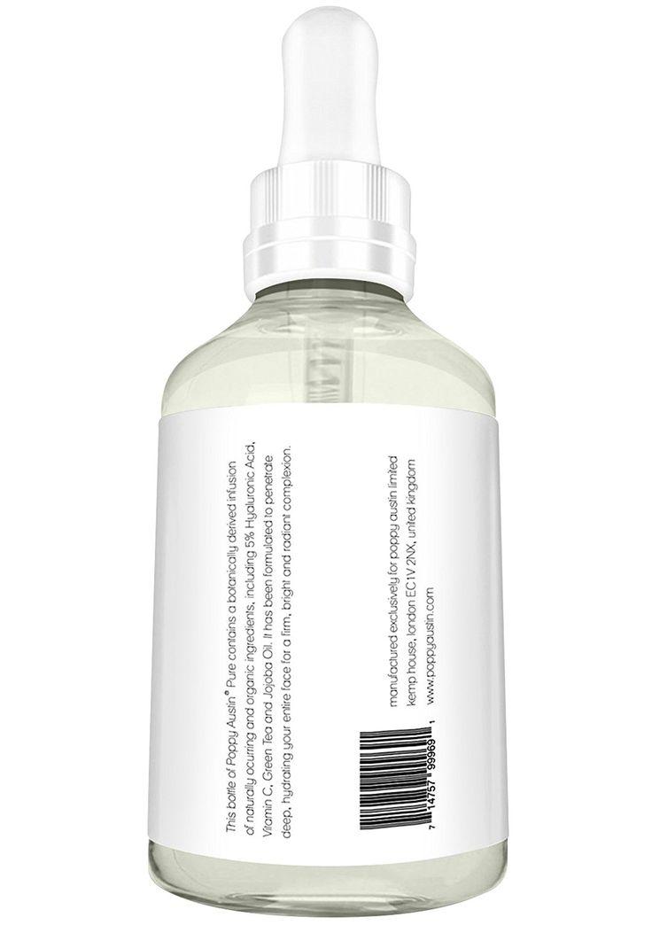 Sérum à l'Acide Hyaluronique pour le Visage Poppy Austin® - GRANDE Bouteille de 60 ml - Infusé à la Vitamine C, au Thé Vert & à l'Huile de Jojoba - Crème Hydratante à l'Acide Hyaluronique 100% Pur pour le Visage - Elu Meilleur Soin Anti-Age 2016: Amazon.fr: Beauté et Parfum