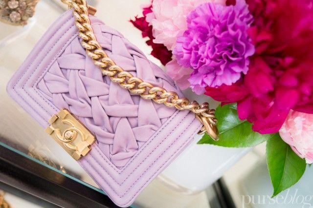 lilac Chanel handbag