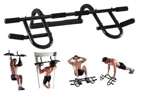 Barre   http://www.walmart.ca/fr/ip/iron-body-fitness-exerciseur-de-porte/6000195376198