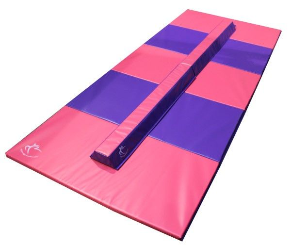 Folding Beam and Mat Combo   Perfect gymnastics beam training for home use
