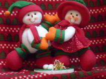 Molde Muñecos de nieve danzarines