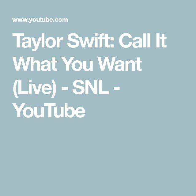 Taylor Swift: Call It What You Want (Live) - SNL - YouTube