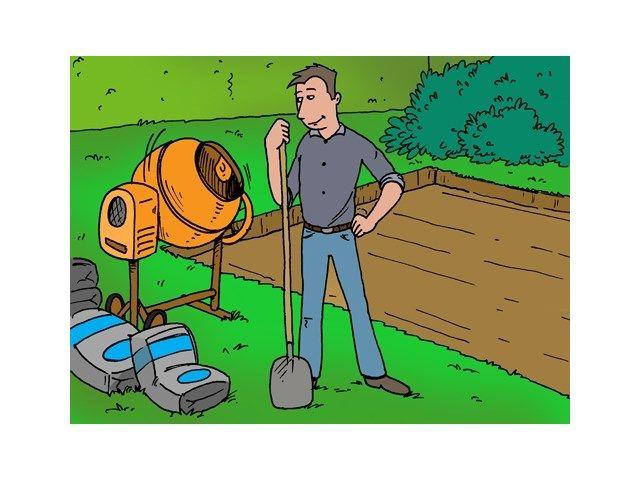 Betonnen dek gieten voor tuinhuis - Fundering  - Livios