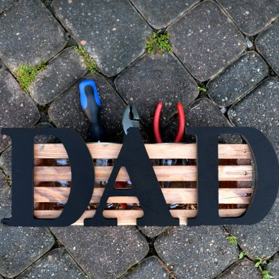 Make Dad a place to store all of his handy items from screwdrivers to pencils! Super quick for a gift at the last minute!