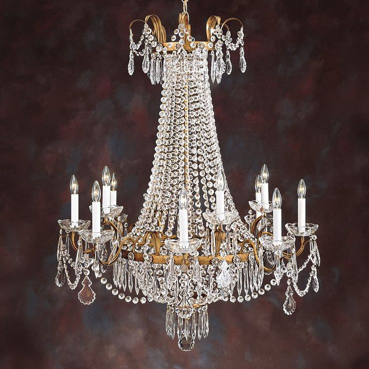 Louis XVI 12 Light Crystal Chandelier