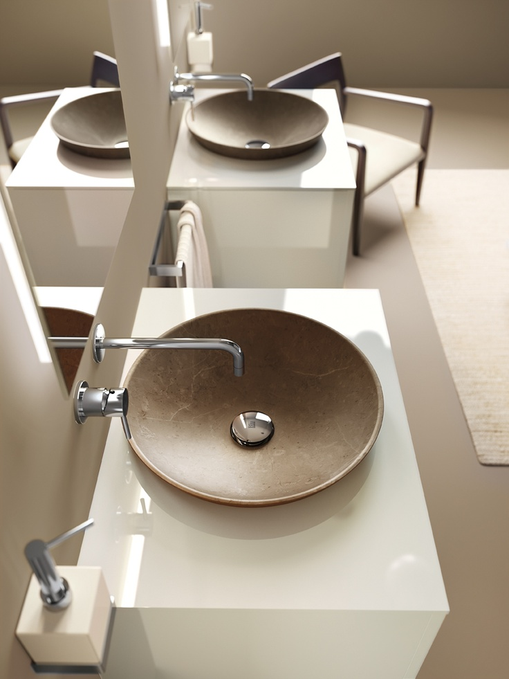 Idro Collection by #Scavolini #Bathrooms | Washbasins