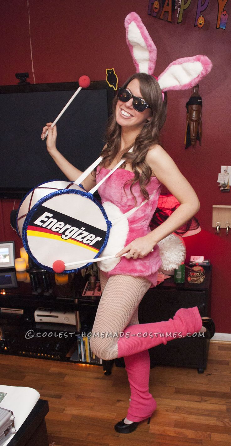 Cutest Energizer Bunny Costume Ever!… Coolest Halloween Costume Contest