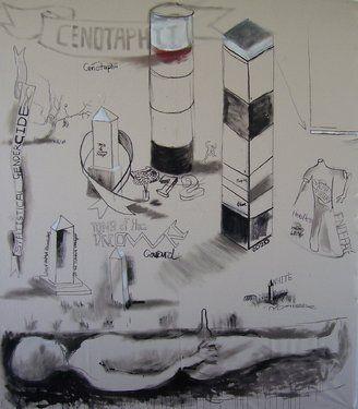 """Saatchi Art Artist Phillip O'Sullivan; Painting, """"Cenotaphii"""" #art"""