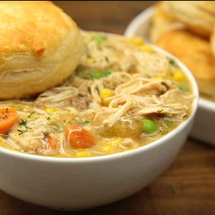Create a delicious mouth-watering Slow Cooker Chicken Pot Pie! This recipe is ridiculously easy, jam-packed with flavor, and one of my families favorite dishes.  The seasoned pulled chicken and fresh cut veggies marinated in spices all day creating an amazing dinner you will be proud to serve up!