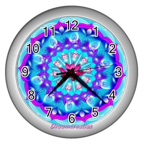 Wall clock Pink Lotus http://www.artravesupercenter.com/droomcreaties/?SectionCode=@Erin Whatley Lockerman