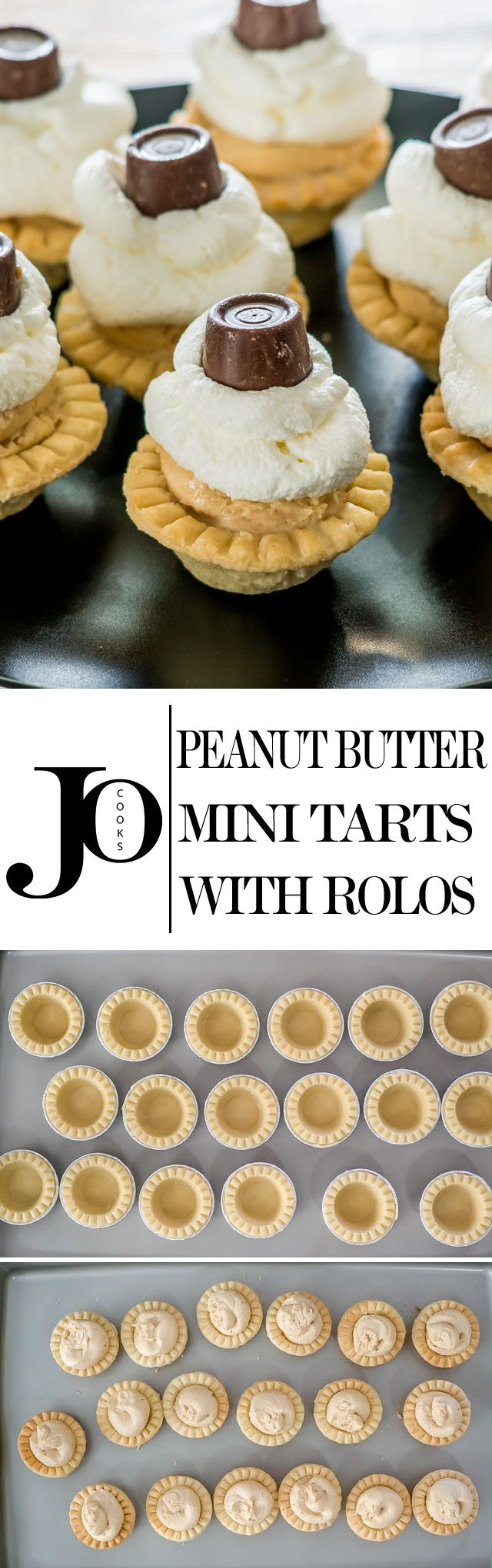 When peanut butter, cream cheese, flaky tart shells, rolos and creamy goodness coincide, you're going to smile from ear to ear! These indulgent little bites make for the perfect dessert!