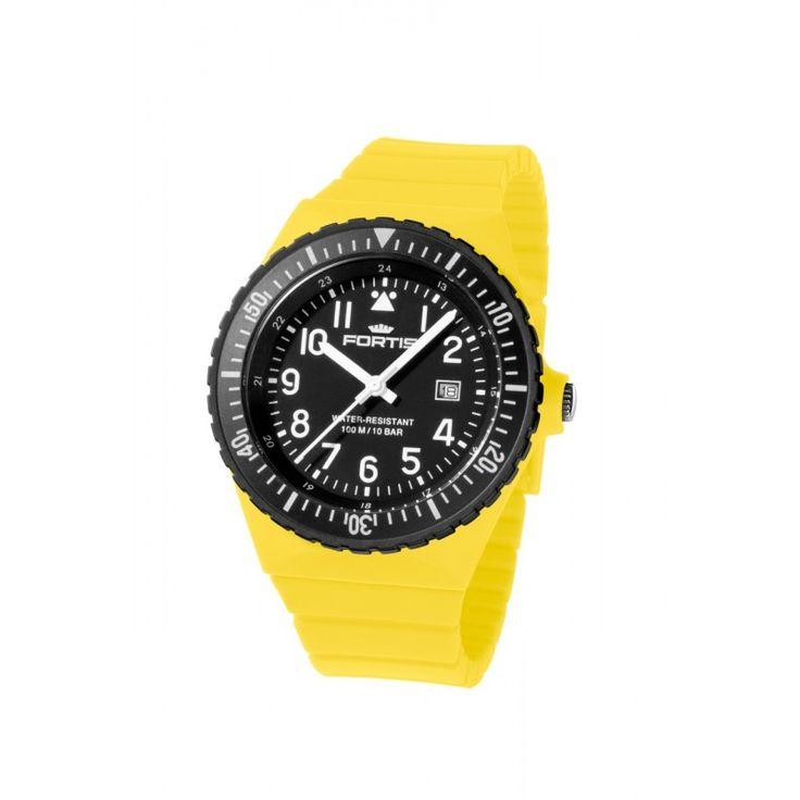Fortis Colors - Unisex karóra sárga színben - Fortis - Női,férfi karóra, óra, akciós órák -karora.hu-webáruház és üzlet