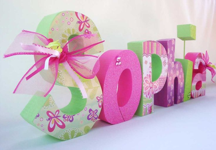 How To Decorate Wooden Letters For Nursery: Best 25+ Decorate Wooden Letters Ideas On Pinterest