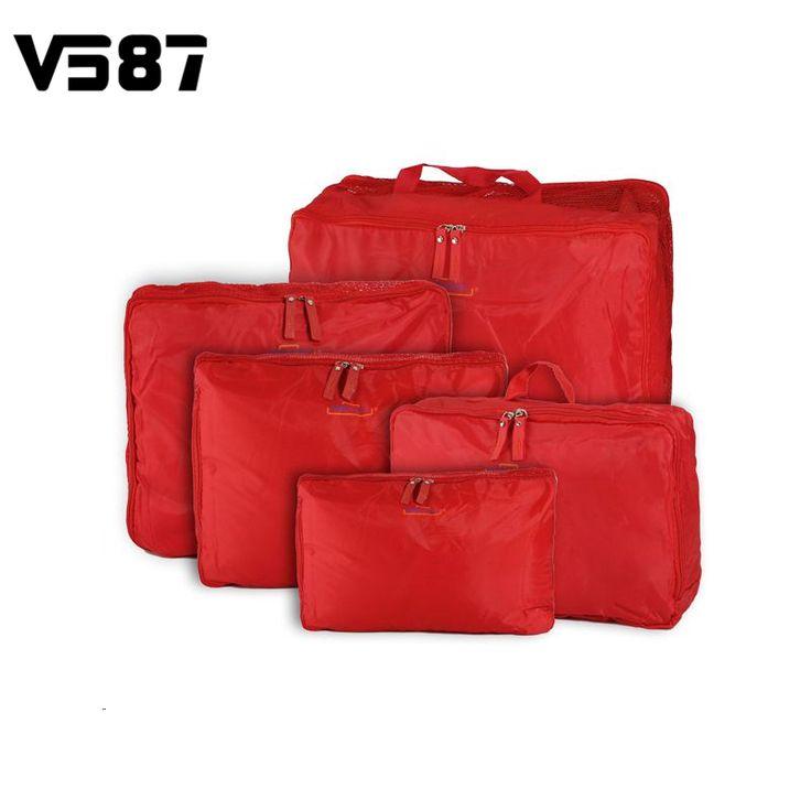 5 Formati/set Home Abbigliamento Intimo Calze Bagagli Borse Da Viaggio Sacchetto Dei Bagagli Imballaggio Cube Organizer Per Voi 5 pz