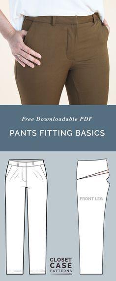 Pants Fitting Adjustments // Best tips for Pants Fitting // Closet Case Patterns via @closetcasepatt