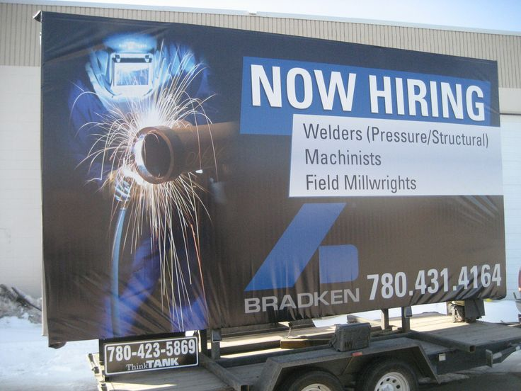 Bradken used a Trailer Billboard with bold imagery to advertise open positions for welders, machinists, and millwrights. #recruitmentads #recruitmentstrategy #recruitment