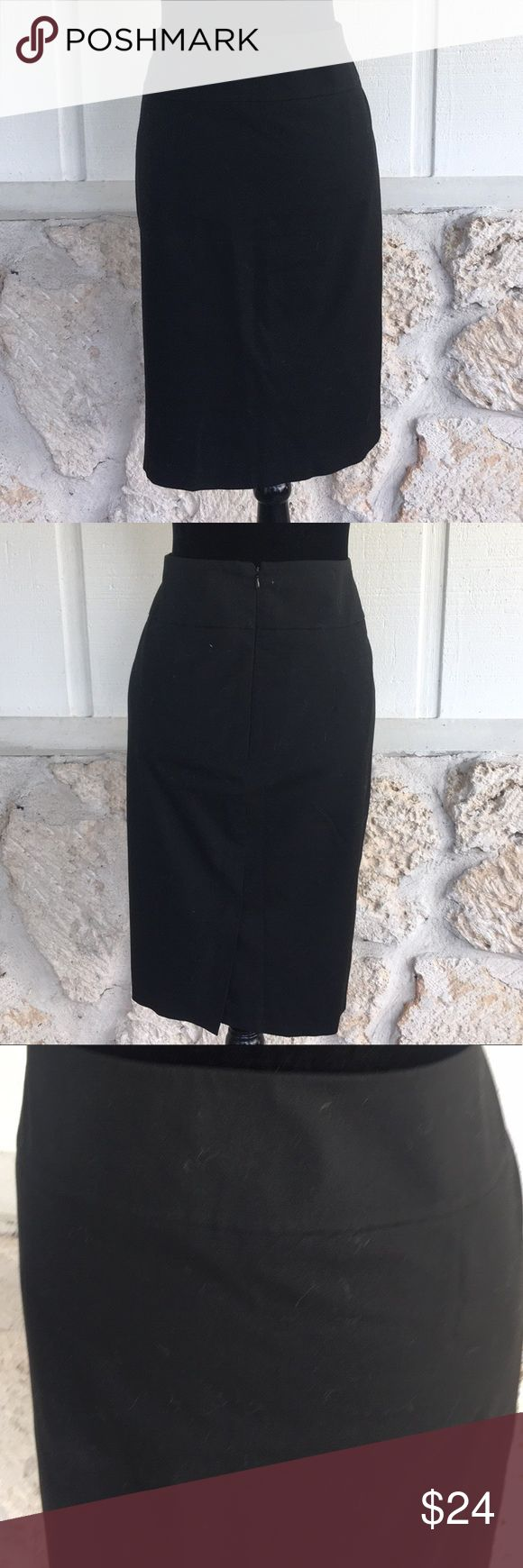 """Mossimo black stretch pencil skirt Mossimo black stretch pencil skirt.  Back zipper and hook and eye closure. 6.5"""" slit in center back at hemline. EUC  measurements: waist measured laying flat side to side 18""""length from waist to hemline 24""""  ✅I ship same or next day ✅Bundle for discount Mossimo Supply Co. Skirts Pencil"""