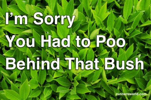 """""""I'm sorry you had to poo behind that bush."""" Sympathy cards for National Running Day 