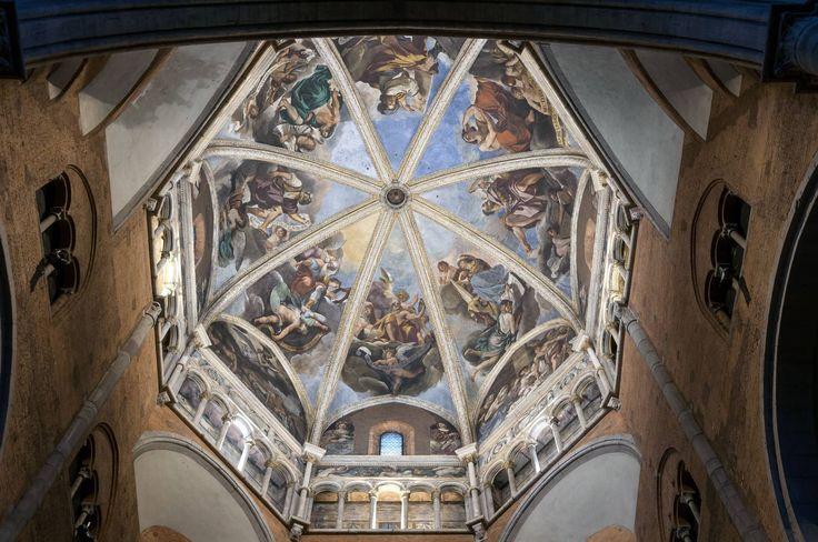 Piacenza, la cupola del Duomo affrescata da Guercino