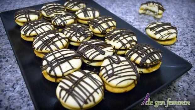 Rețeta paleuri (fursecuri) umplute cu ciocolată