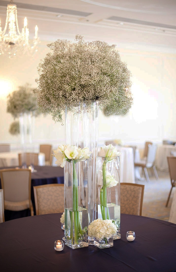 I Love This Large Babys Breath With Clear Cylinder Vase