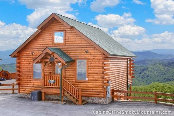 Valley view a 1 bedroom cabin overlooking wears valley in for Mountain view cabins pigeon forge tn