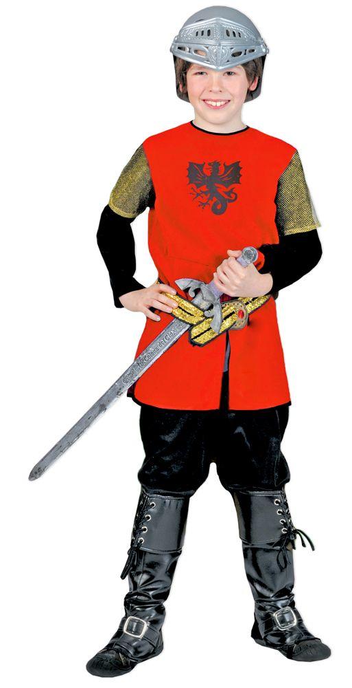 Mit dieser tollen Tunika verwandelt sich Ihr kleiner Prinz in einen waschechten, Ungeheuer vertreibenden und Prinzessinnen rettenden Ritter! Das Mittelalter Kostüm passt perfekt zu Ritterfest, Kindergeburtstag, Mittelalter Spiele, Karneval, Mottoparty oder einfach zum spielen.