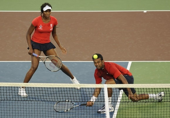 Venus Williams and Leander Paes lead the Kastles to victory July 5. Photo by Matt McClain for the Washington Post