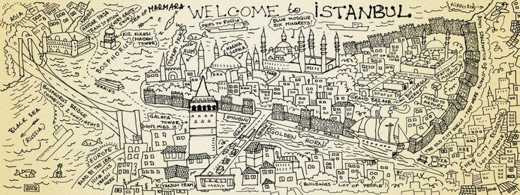 Mapa de viagem Istambul