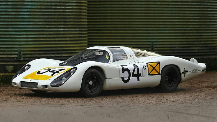 1968 Daytona 24 ~ At the end of March, 1968, Porsche had four type 907 chassis ready, and brought them tothe 24 Hours of Daytona. Fully developed, the 907 used a 2195 cc aircooled, magnesium alloy flat-eight with Bosch fuel injection, good for 278 bhp at 8700 rpm. The 907LH (lang heck, or long tail) was slippery, stonking fast, wicked hard to drive, and swept the podium at the '68 race.