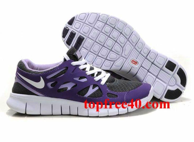 Femmes Nike Free Run 2 Fond Décran Noir Violet