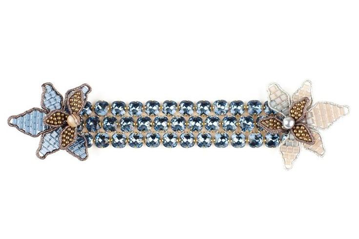 Tataborello Woven Blue Flower Bracelet