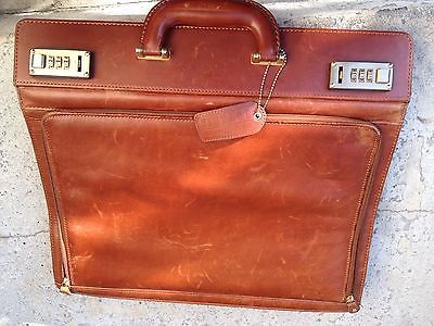 Wilsons Leather Vintage Alla Moda Bellezza Tan Leather Briefcase/Attache