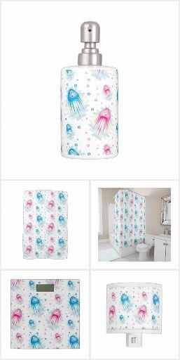 Cute Jellyfish Bathroom Decor