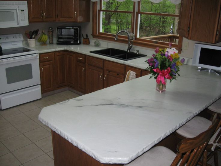 Concrete Overlay Over Old Blue Laminate White Marble Tim Stimers Design