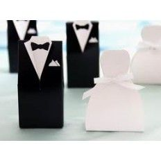 Wedding Dress & Tuxdeo Favour Boxes