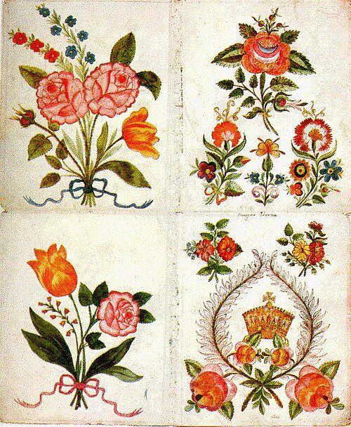 floral motifs f lep istv n 1824 hungarian folk. Black Bedroom Furniture Sets. Home Design Ideas