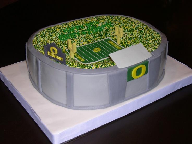 AMAZING Oregon Ducks cake for Jeffry