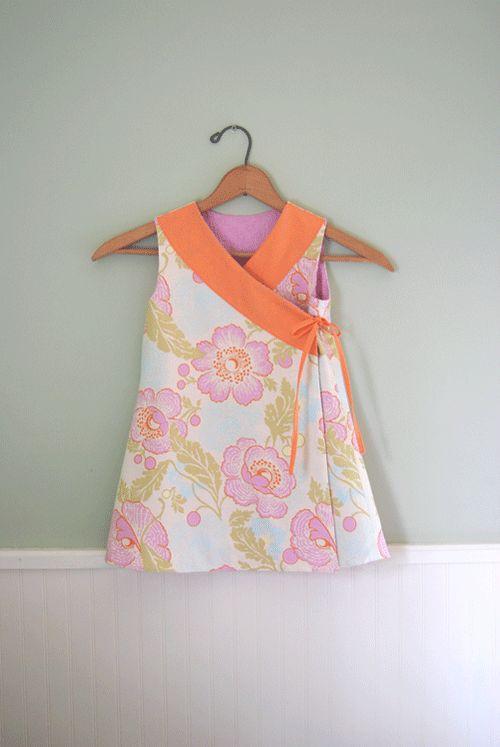 Criss cross reversible dress tutorial.