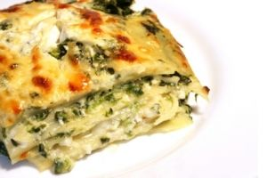 FAST, healthy mushroom lasagne.   (Fom Dr. OZ and Rocco DiSpirito)