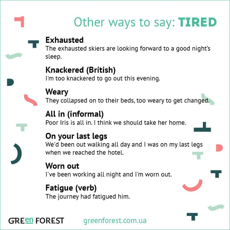 Synonyms To The Word TIRED Other Ways To Say TIRED