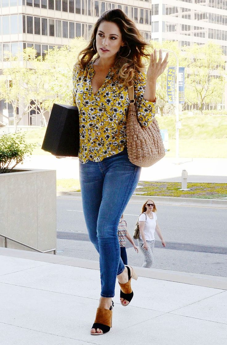 Kelly Brook flaunts curves in denim jeans out and about in LA