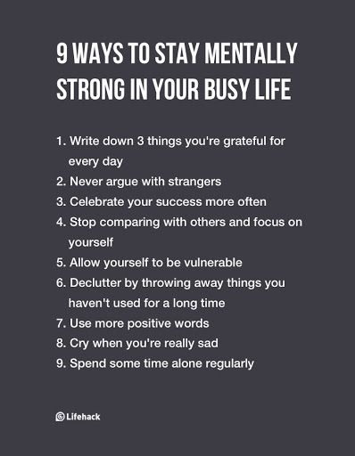 9 Ways to Stay Mentally Strong in Your Busy Life