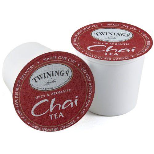Twinings Chai Tea Keurig K-Cups, 48 Count - http://thecoffeepod.biz/twinings-chai-tea-keurig-k-cups-48-count/