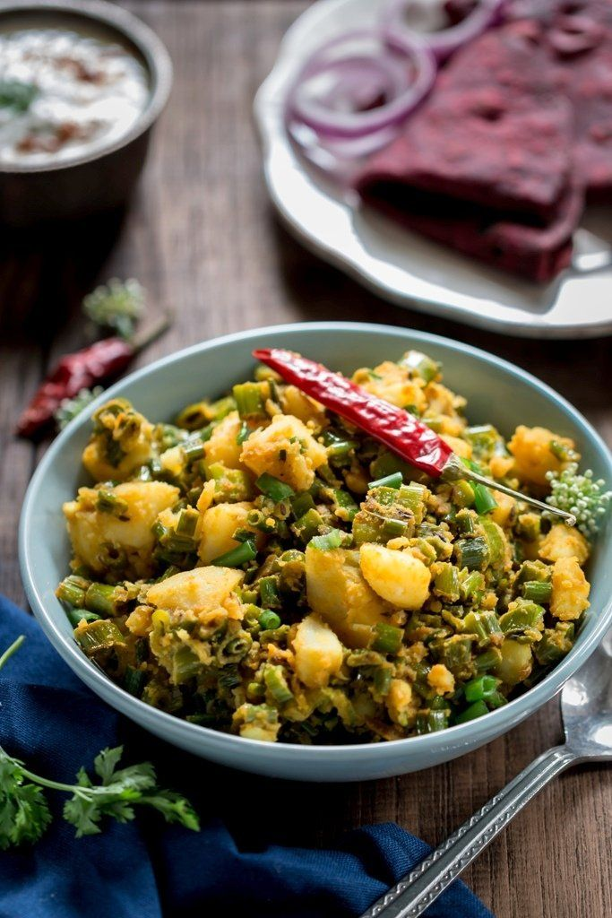 Spring Onion Potato Sabzi Recipe