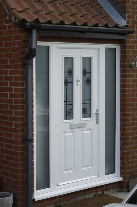 White Upvc Front Door Exterior